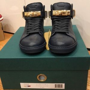 Buscemi 100 MM oceans blue sneakers,100% authentic